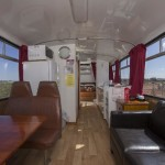 Comfortable refurbished bus accommodation